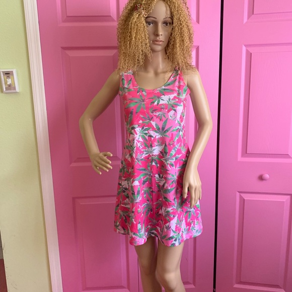 Cow Cow Dresses & Skirts - Cow Cow Pink Weed Skater  Dress medium